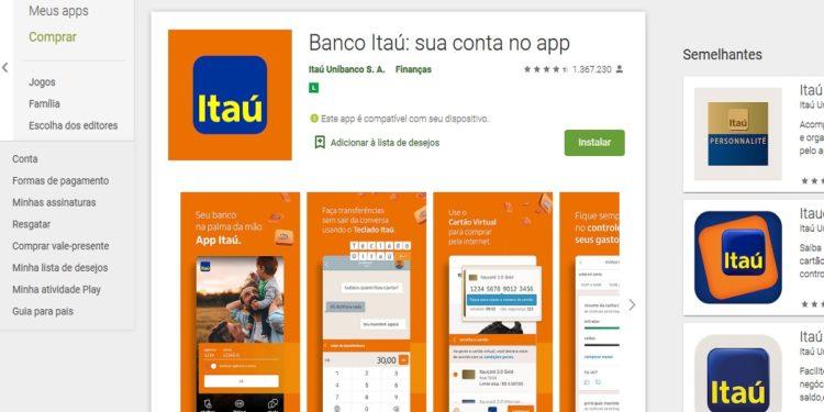 app banco itau