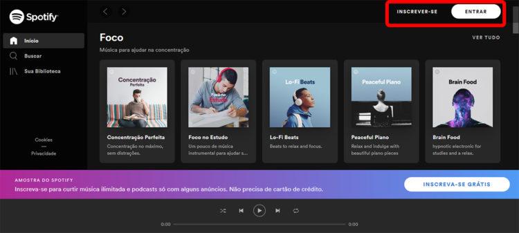 Spotify Brasil as mais tocadas