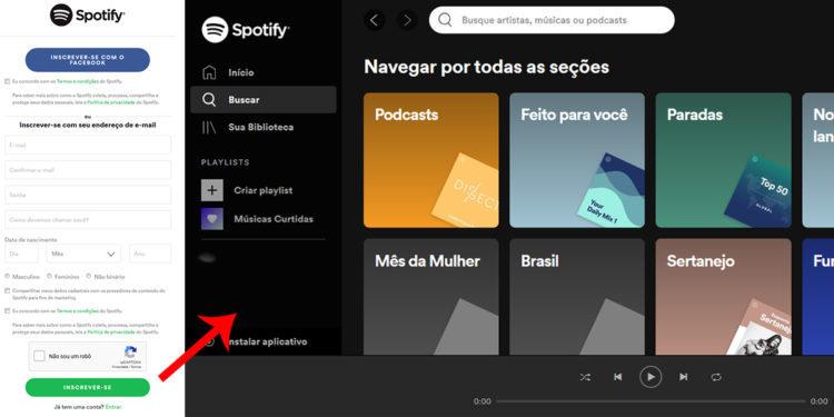 Spotify Brasil contato